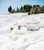 Pamukkale in Turchia Fotografie Stock