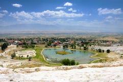 Pamukkale Turkey. Pamukkale is beautiful place in Turkey Stock Photography