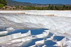 Pamukkale Turkey 4. Travetine covered hills and rock pools of Pamukkale Turkey Royalty Free Stock Images