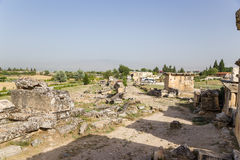 Pamukkale, Turkey. Archaeological excavations of the necropolis of Hierapolis Royalty Free Stock Photo