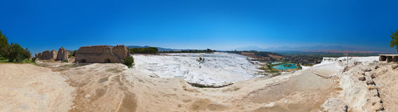 Pamukkale Turkey panorama Stock Images
