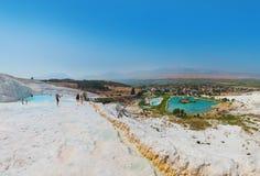 Pamukkale Turkey panorama Stock Images