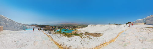 Pamukkale Turkey panorama Royalty Free Stock Images