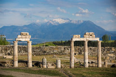 Pamukkale, Turkey. Ruins of ancient Hierapolis, Pamukkale, Turkey Royalty Free Stock Photos