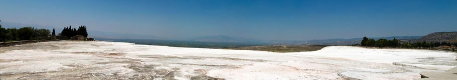 Pamukkale. Turkey. Ruins of Hierapolis, ancient city Stock Images