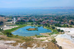 Pamukkale, Turkey, top view Stock Photos