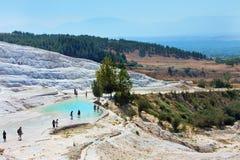 Pamukkale, Turkey, top view stock photos