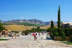 Pamukkale, Turkey, tourists Royalty Free Stock Photography