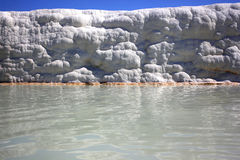 Pamukkale. A unique natural phenomenon. Snowy mountain in Turkey. Famous tourist attraction is under UNESCO protection Stock Photo