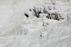Pamukkale. Is an unusual natural and historical site with the sparkling white castle -like cascades,  is one of the most important highlights of Turkey, unique Royalty Free Stock Images
