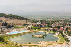 Pamukkale valley view Royalty Free Stock Image