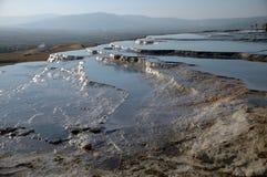 Pamukkale Wasserfälle Lizenzfreie Stockfotografie