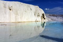Pamukkale, which hosts thousands of local and foreign tourists e royalty free stock images