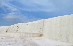 Pamukkale white calcium travertines in Turkey Stock Photography