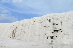 Pamukkale white calcium travertines in Turkey Royalty Free Stock Images