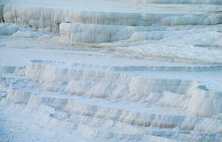 Pamukkale white calcium travertines in Turkey Stock Images