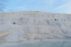 Pamukkale white calcium travertines in Turkey Royalty Free Stock Image