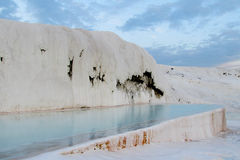 Pamukkale white calcium travertines in Turkey Royalty Free Stock Photography