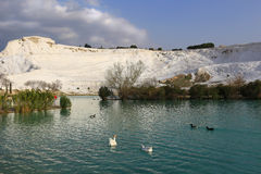Pamukkale the White Cotton Castle Stock Photos