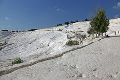 Pamukkale White Hills Royalty Free Stock Images
