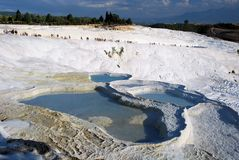 Pamukkale - World Heritage Site - White terraces made of travertine, Stock Images