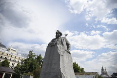Pamyatnik Karlu Marksu Карл Марх Стоковое фото RF