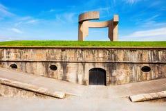 Panégyrique au monument d'horizon, Gijon image stock