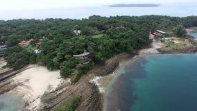 Pan über Contadora-Insel in Panama stock footage
