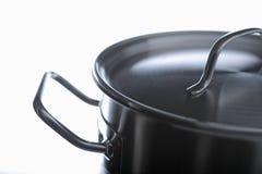 Pan. Cooking pot, high key lighting Stock Photos