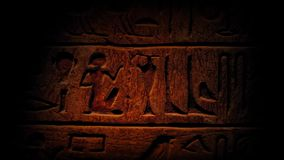 Pan Across Ancient Egyptian Hieroglyphics stock videobeelden
