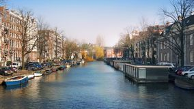 Pan Across Beautiful Canal Panorama filme