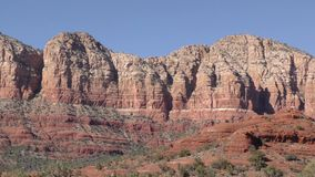 Arizona, Sedona, A pan across Gibraltar, Lee Mountain and Baby Bell in the foreground