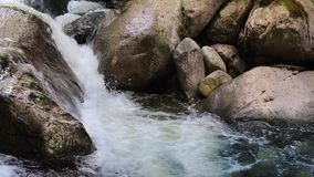 Pan Across River Rocks stock footage