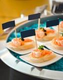 Pan agridulce de la patata a la inglesa del camarón Fotografía de archivo libre de regalías