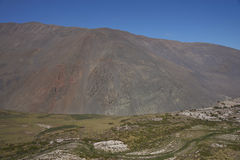 Pan American Highway nel Cile del Nord fotografie stock