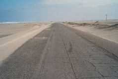 Pan American Highway South van Nazca, Peru royalty-vrije stock foto's