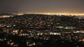 Pan around la night lapse stock video