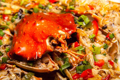 Pan-asiatischer Krebscocktail stockbild