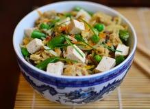 Pan-Aziaat braadde rijst Stock Afbeelding