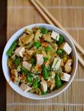 Pan-Aziaat braadde rijst Royalty-vrije Stock Foto's