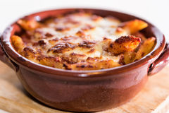 Pan baked pasta Stock Images