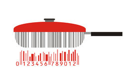 Pan and barcode Royalty Free Stock Photo