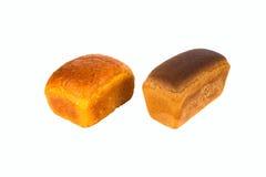 Pan blanco de dos panes Fotos de archivo libres de regalías