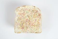 Pan blanco del cumpleaños Imagenes de archivo