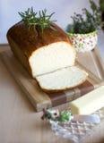 Pan blanco hecho en casa Imágenes de archivo libres de regalías