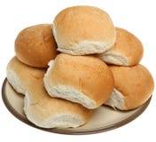 Pan blanco suave Rolls fotografía de archivo libre de regalías