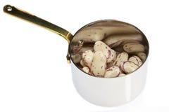 Pan Of Borlotti Beans Stock Image