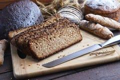 Pan breadsliced negro Imagen de archivo libre de regalías
