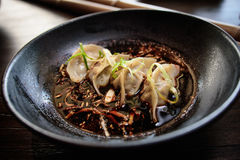 Pan briet gyoza Lizenzfreies Stockbild