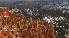 Pan of Bryce Canyon stock footage